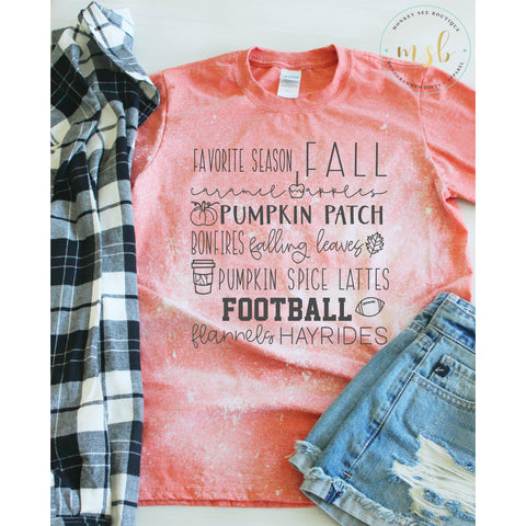 Bleached Fall Favorites Tee - monkey see boutique