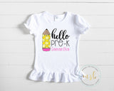 Back to School Shirt - Pre-K to Third Grade - monkey see boutique