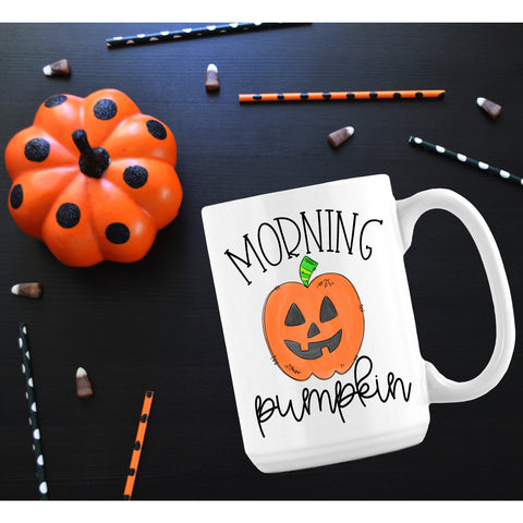 Morning Pumpkin Halloween Mug - monkey see boutique