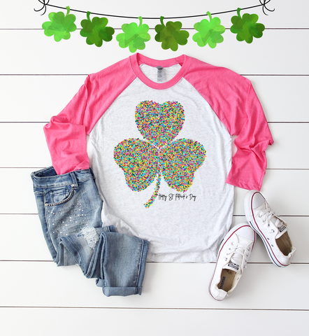 """Lucky Retro Clover Shirt"""
