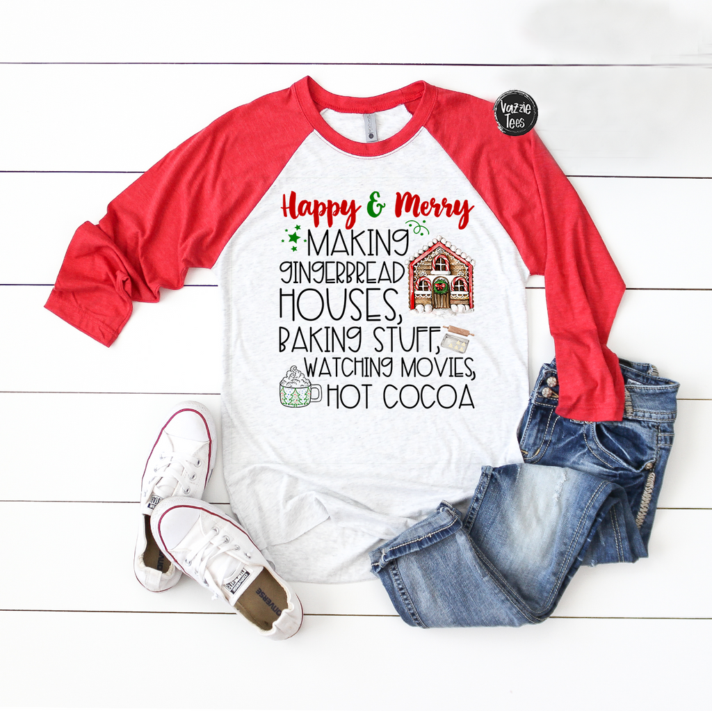 """Happy & Merry"" Baking Shirt, Vazzie Tees"