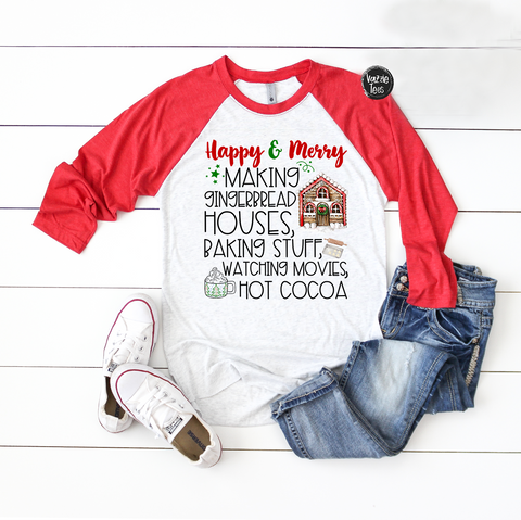 "Shirt 2: ""to my Mocha"" Red Raglan"