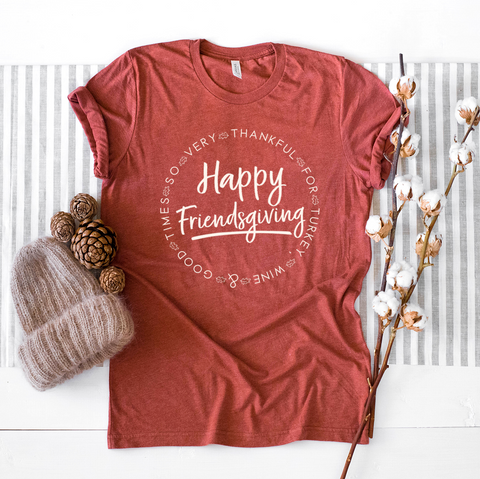 Happy Friendsgiving - Maroon V-Neck
