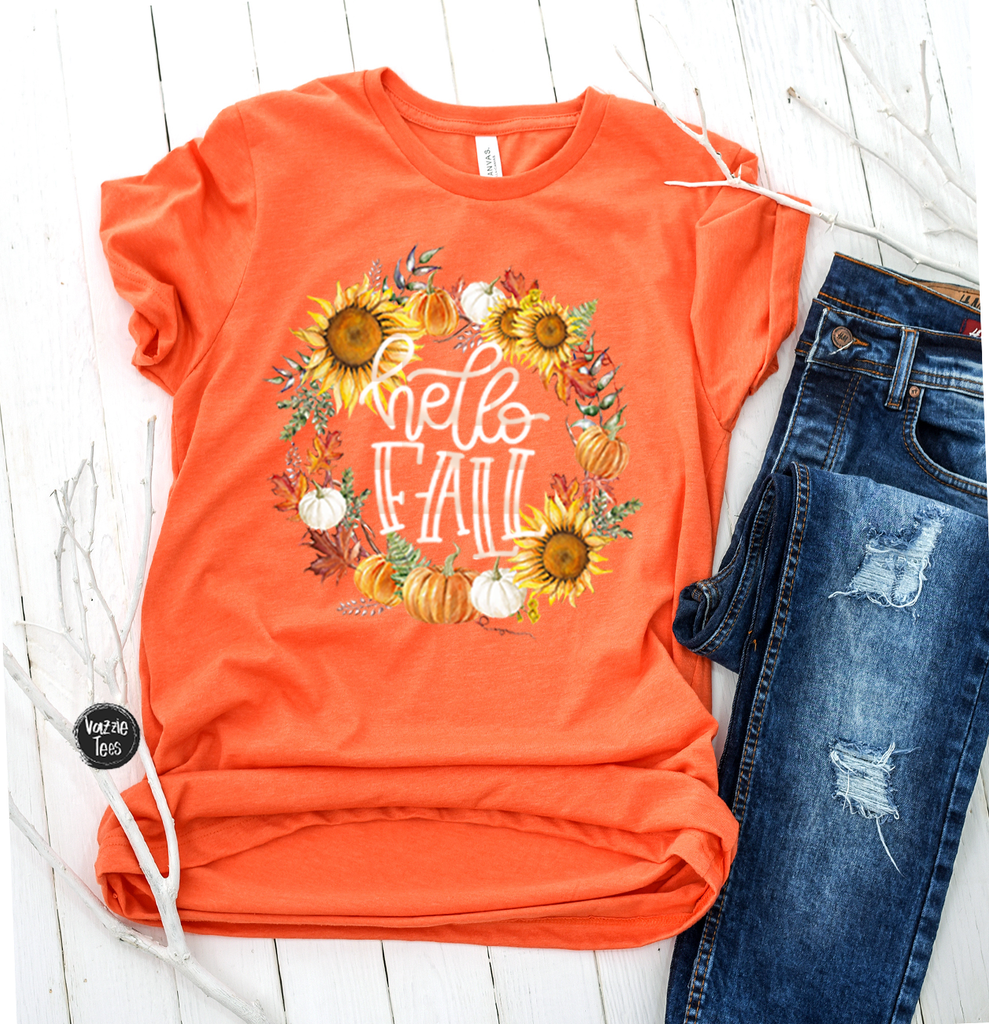 """Hello Fall"", Vazzie Tees"