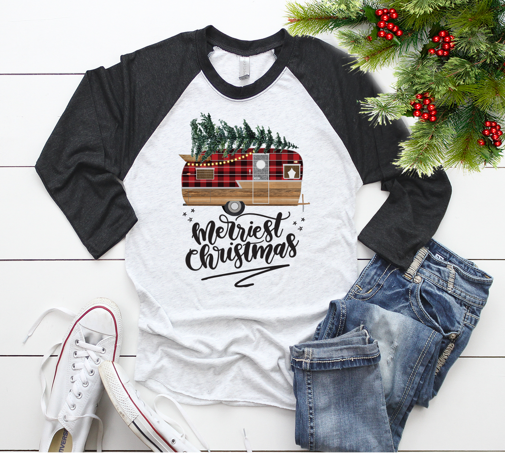 """Merriest Christmas - Camper Shirt"", Vazzie Tees"