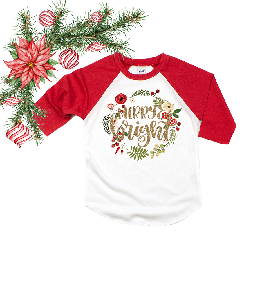 """Merry & Bright"" - Kids and Adults, Vazzie Tees"