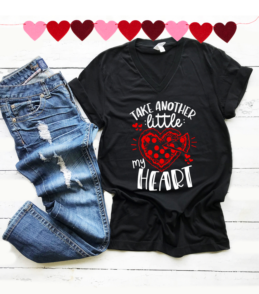 """Take Another Little Pizza My Heart, Vazzie Tees"