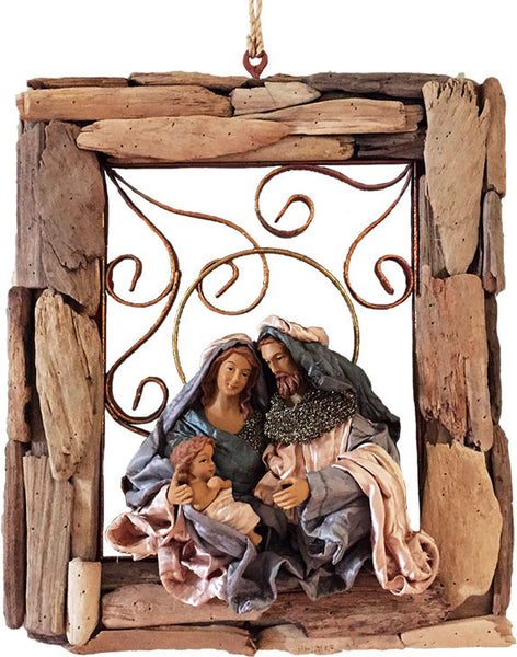 Holy Family in Driftwood Frame