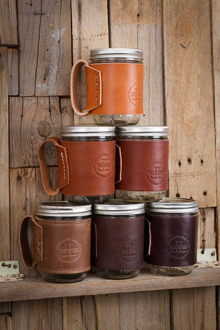 Leather Mason Jars