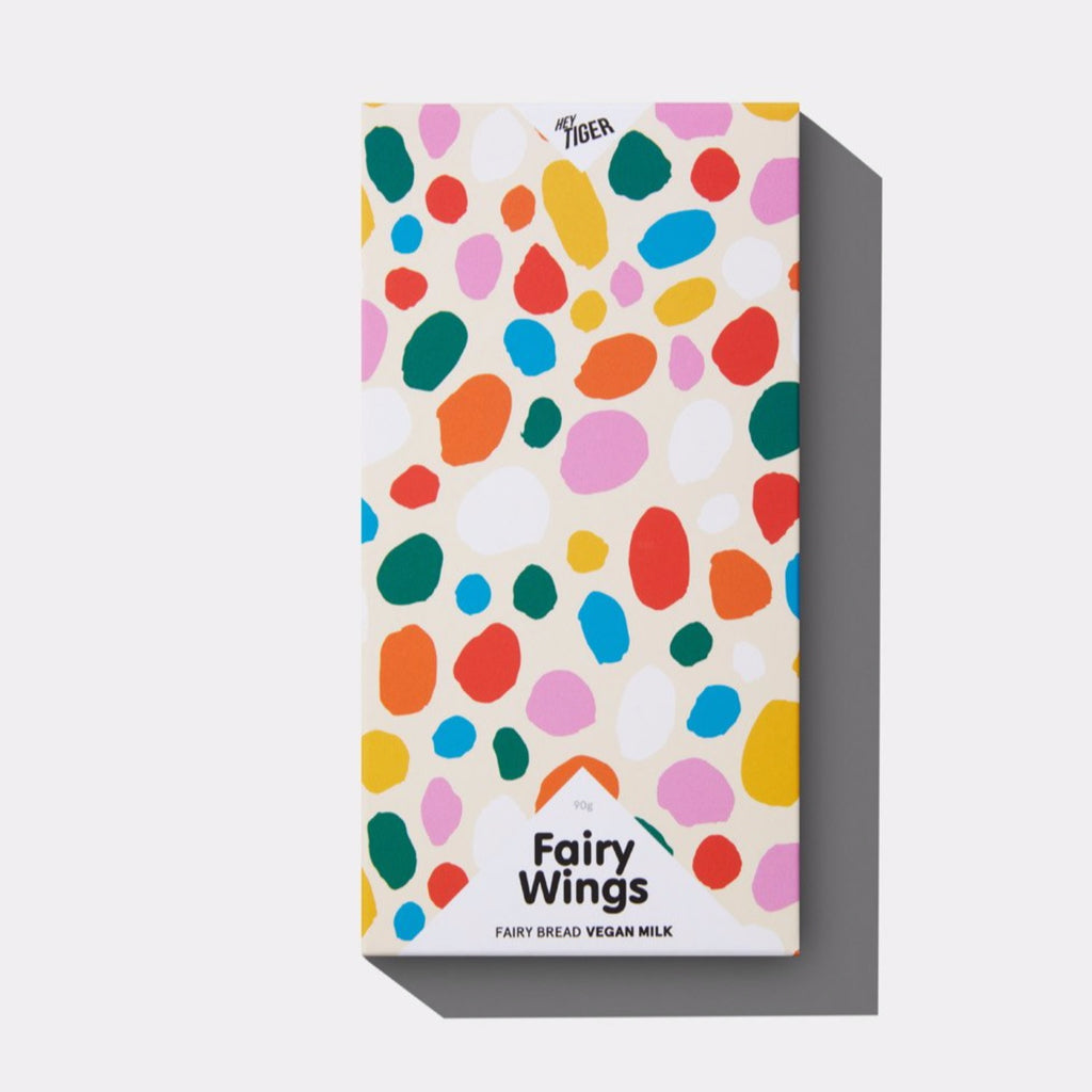 FAIRY WINGS - Vegan milk chocolate with fairy bread