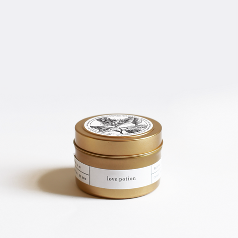 Love Potion - Gold Travel Candle