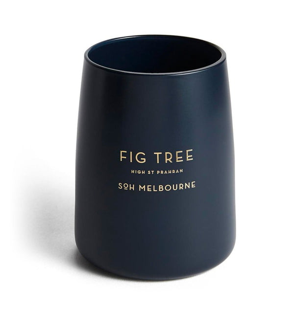 Fig Tree Navy Matte Glass
