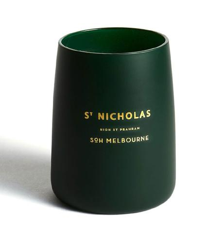 St Nicholas British Green Matte Glass