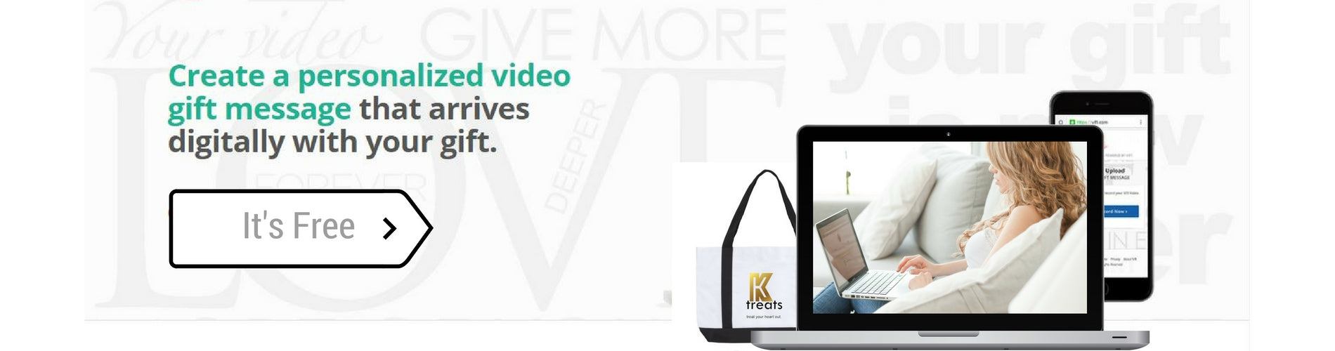 Create a personalized video message for your ktreats chocolate gift box