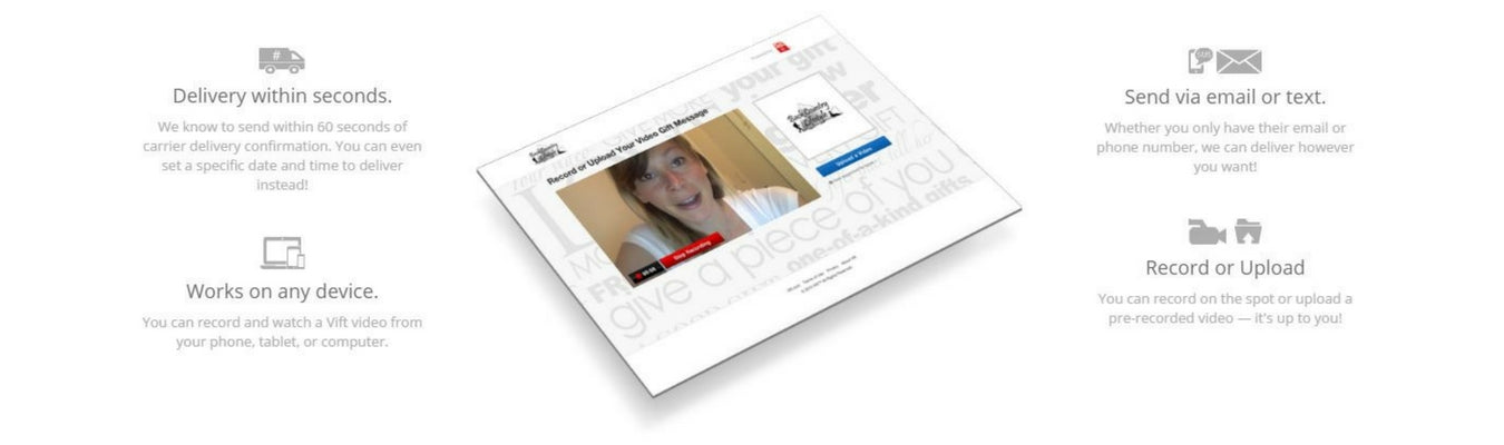 Create a personalized video message for your ktreats gift box