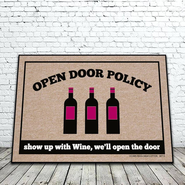 High Cotton Gifts: Open Door Policy Wine Mat