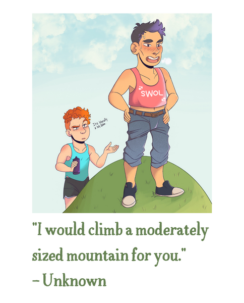 """I would climb a mountain"" Valentine's Day Card (E-Card)"