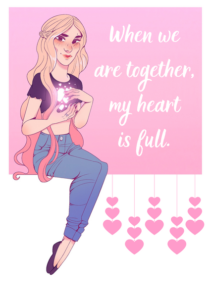 """My heart is full"" Valentine's Day Card (E-Card)"