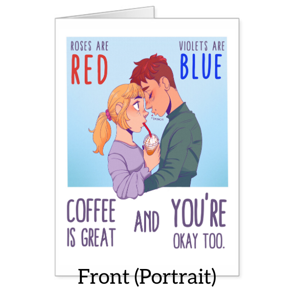"""Coffee is Great"" Valentine's Day Card"