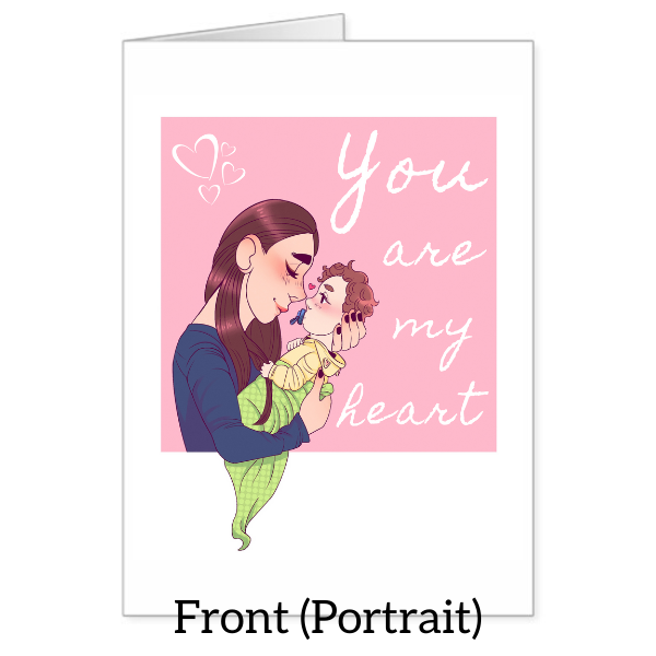 """You are my heart"" Valentine's Day Card"
