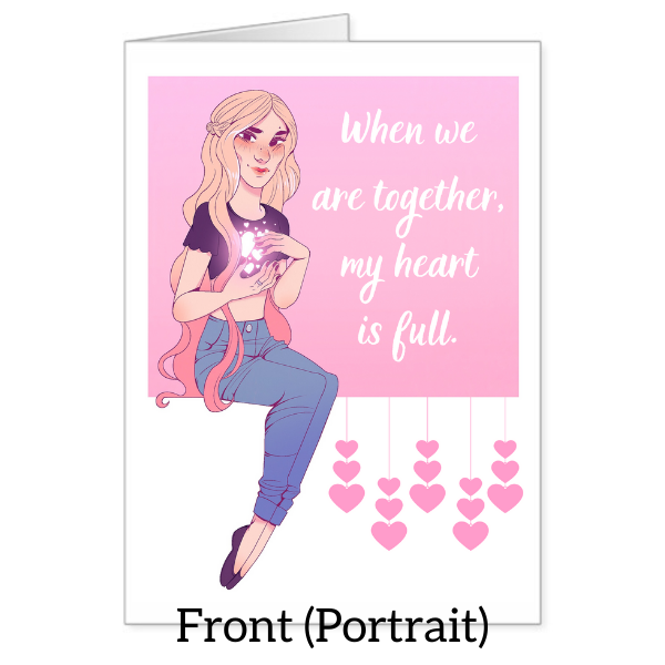 """My heart is full"" Valentine's Day Card"