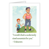 """I would climb a mountain"" Valentine's Day Card"