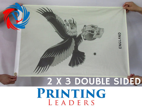 DOUBLE SIDED Custom 2' x 3' Flag - Cheap Custom Printing - 1