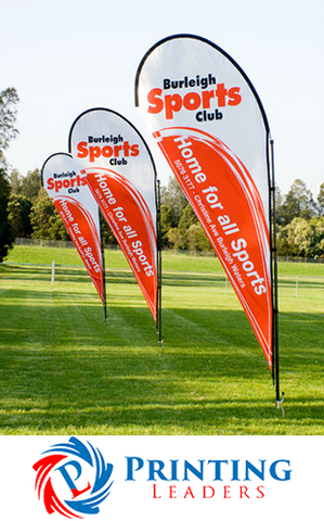 Custom In-Ground Teardrop Flags w/ Spike - Cheap Custom Printing - 1