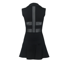 Load image into Gallery viewer, women's golf clothes black women's golf dress with mesh inserts
