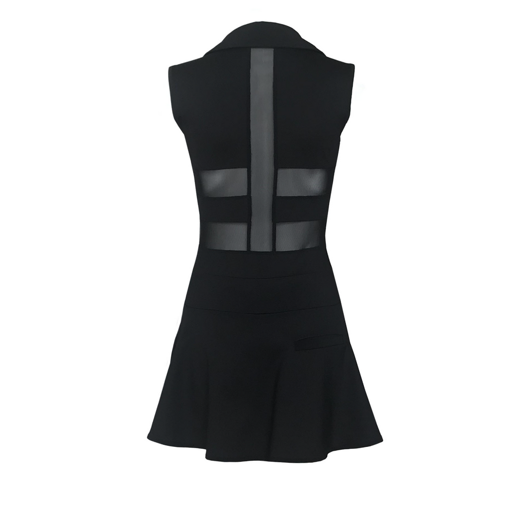 women's golf clothes black women's golf dress with mesh inserts