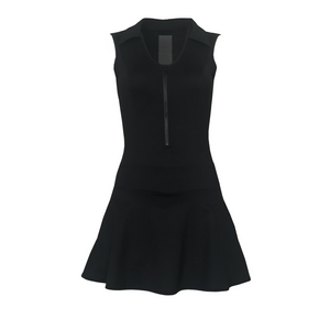 ladies golf apparel black women's golf dress with mesh inserts