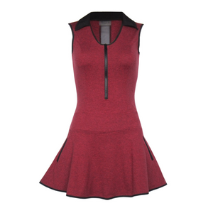 Align Golf Dress - Heather Red