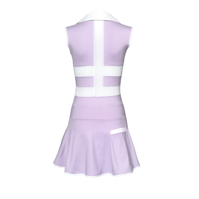 women's golf clothes lavender women's golf dress with mesh inserts