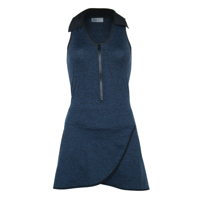 Racerback Golf Dress - Heather Navy