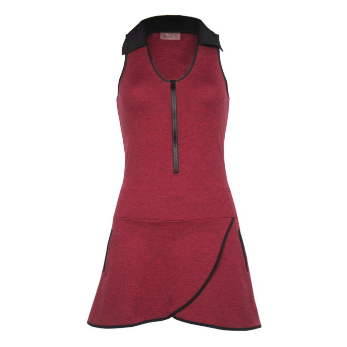 Racerback Golf Dress - Heather Red