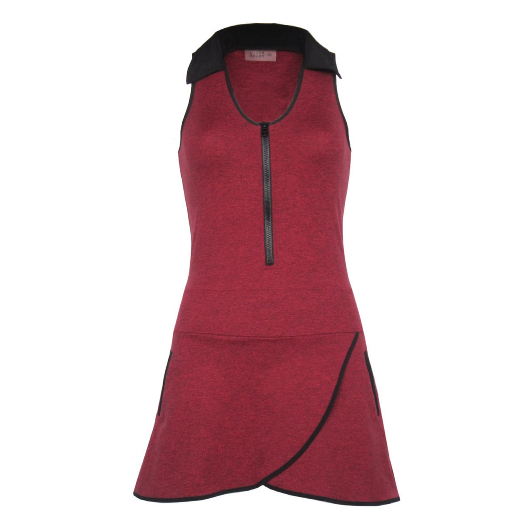 Racerback Golf Dress - Heather Red (XS Only)