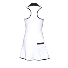 Load image into Gallery viewer, ladies golf apparel white women's golf dress racerback