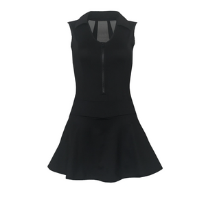 Pre Order - Splice Back Golf Dress - Black