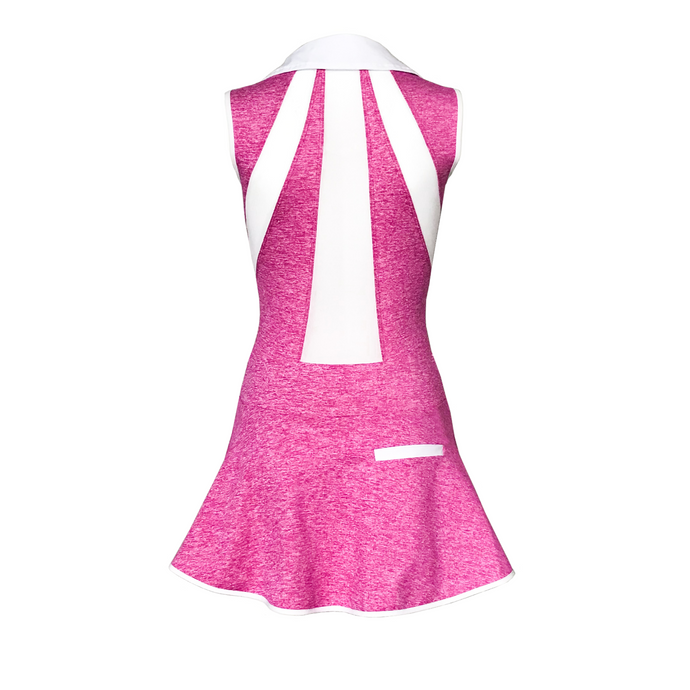 women's golf clothes pink women's golf dress mesh inserts