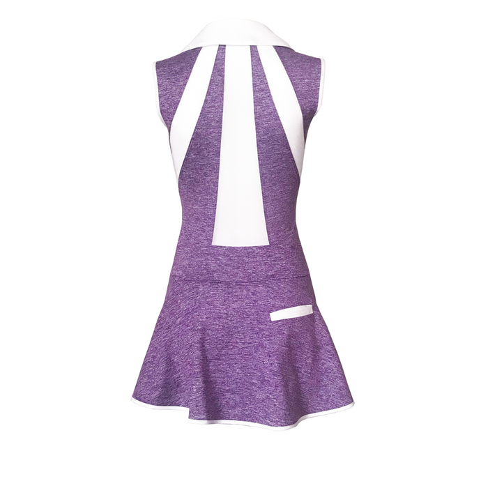 women's golf clothes purple women's golf dress mesh inserts