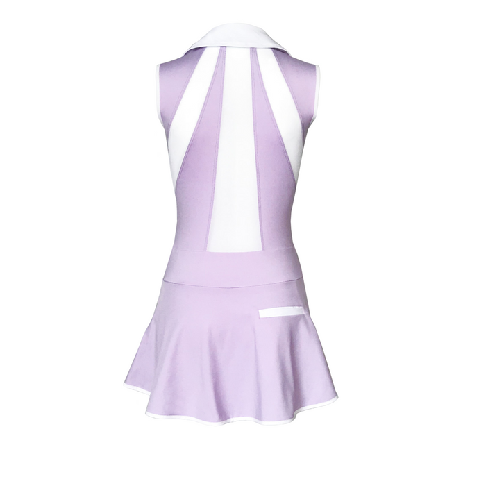 women's golf clothes lavender women's golf dress mesh inserts