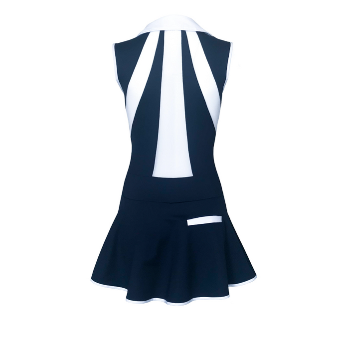 women's golf clothes navy women's golf dress mesh inserts