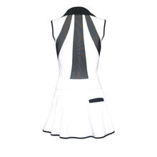Load image into Gallery viewer, women's golf clothes white women's golf dress mesh inserts