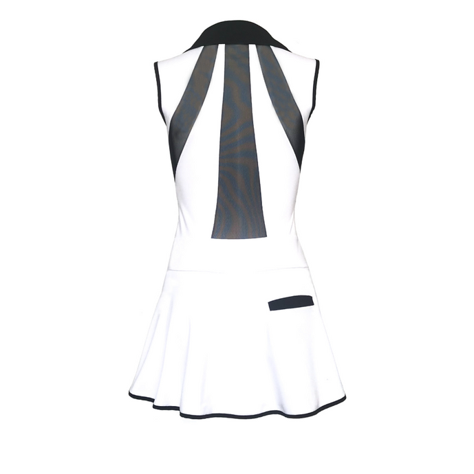 women's golf clothes white women's golf dress mesh inserts