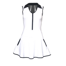 Load image into Gallery viewer, ladies golf apparel white women's golf dress mesh inserts