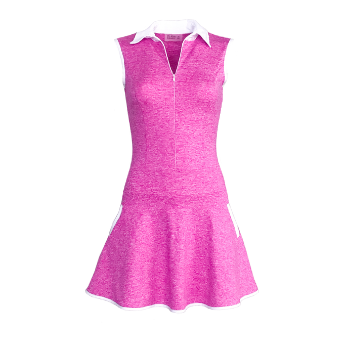 Grace Golf Dress Tall - Heather Fuchsia