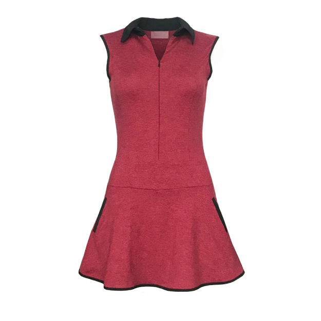 Grace Golf Dress - Heather Red
