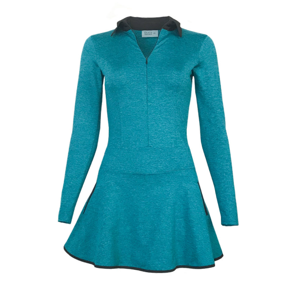 Balance Golf Dress - Heather Turquoise