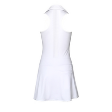 Load image into Gallery viewer, women's golf clothes white women's golf dress racerback mesh insert