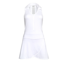 Load image into Gallery viewer, ladies golf apparel white women's golf dress racerback mesh insert